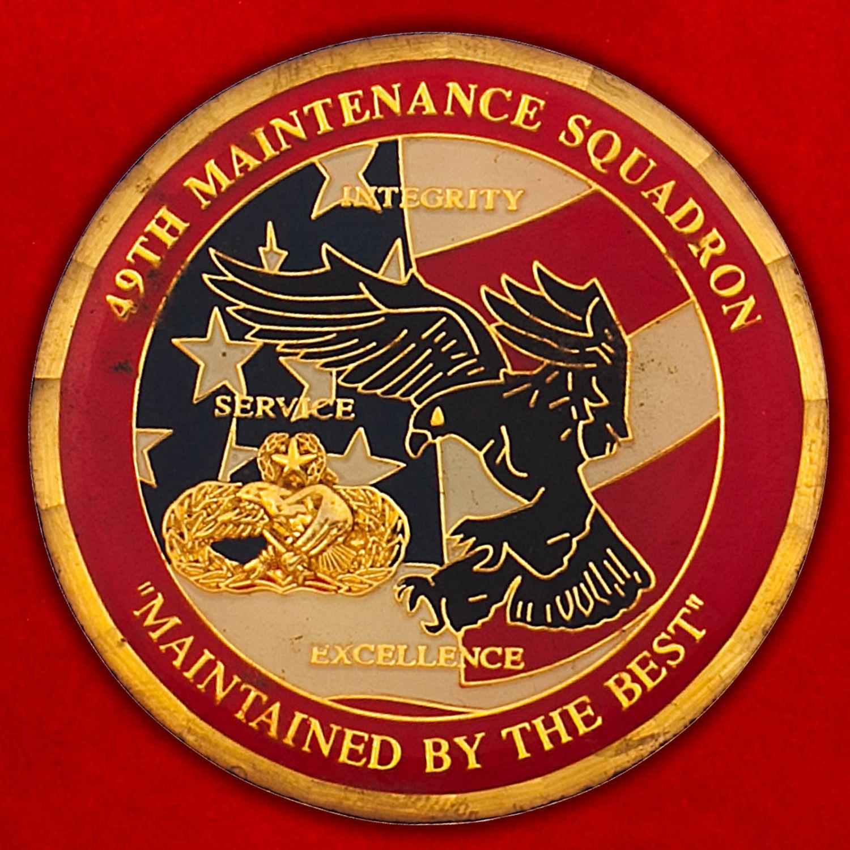 Челлендж коин 49-й эскадрильи технического обслуживания