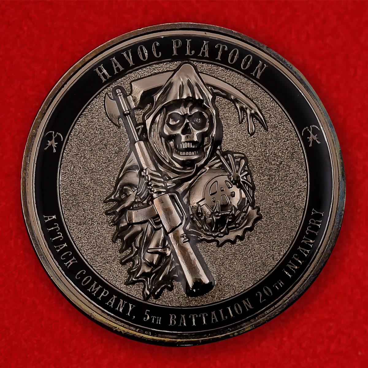 """Челлендж коин 5-го батальона 20-го пехотного полка армии США """"Операция Несокрушимая свобода"""""""