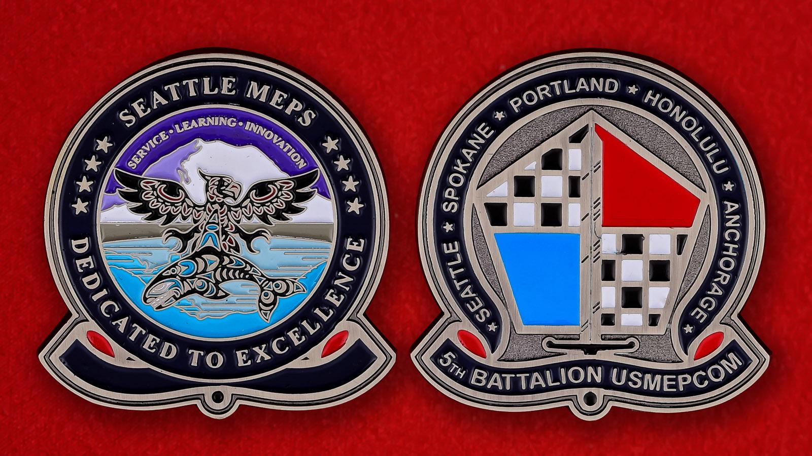 Челлендж коин 5-го батальона Командования комплектования Вооруженных сил США