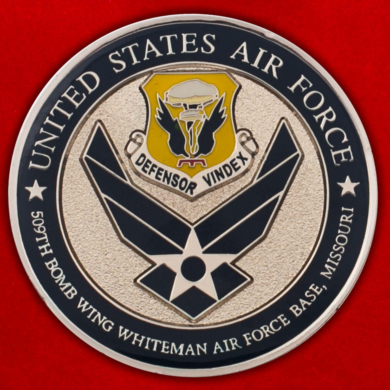 """Челлендж коин """"509-е крыло стратегических бомбардировщиков ВВС США"""""""
