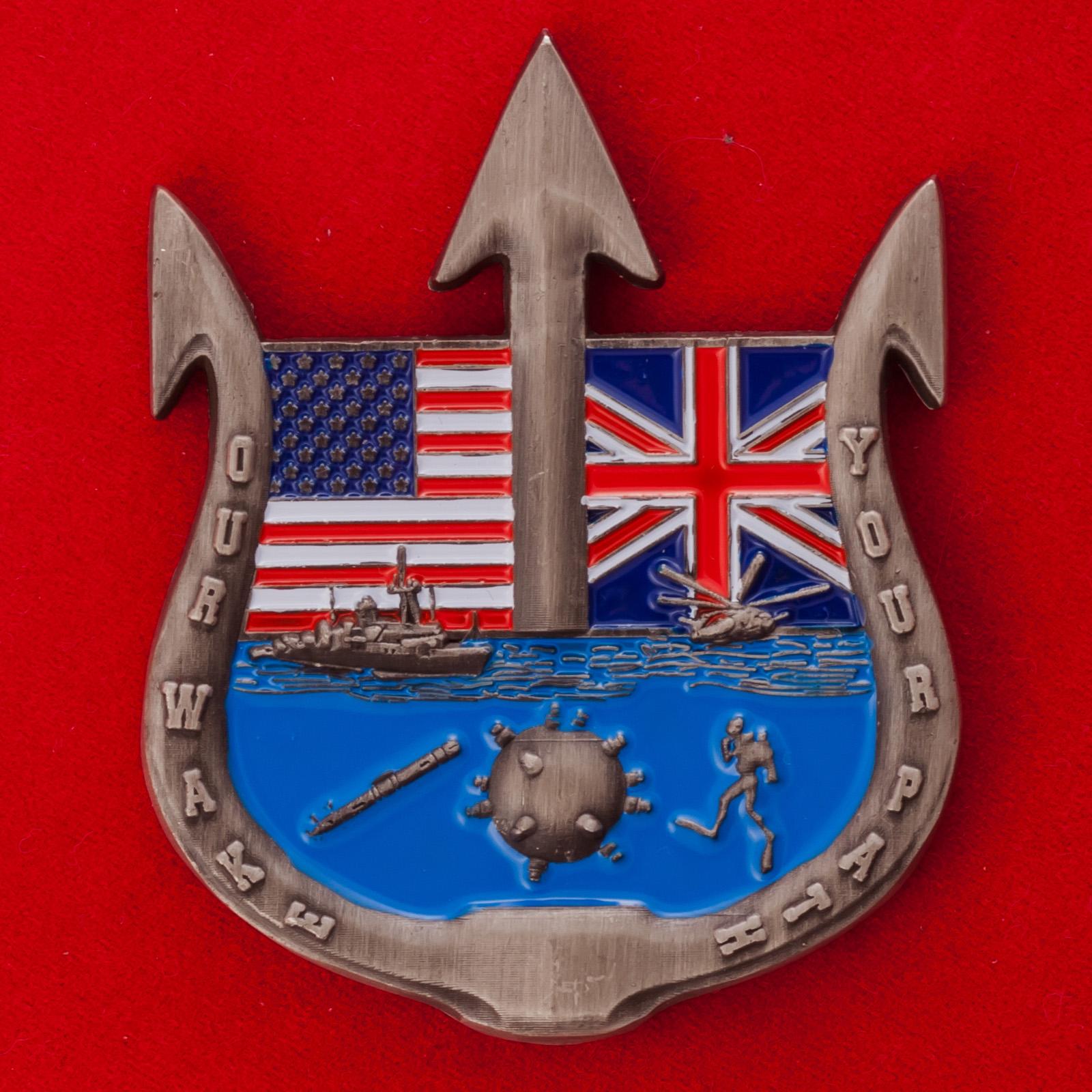 Челлендж коин командира 52-го оперативного соединения водолазов ВМС США