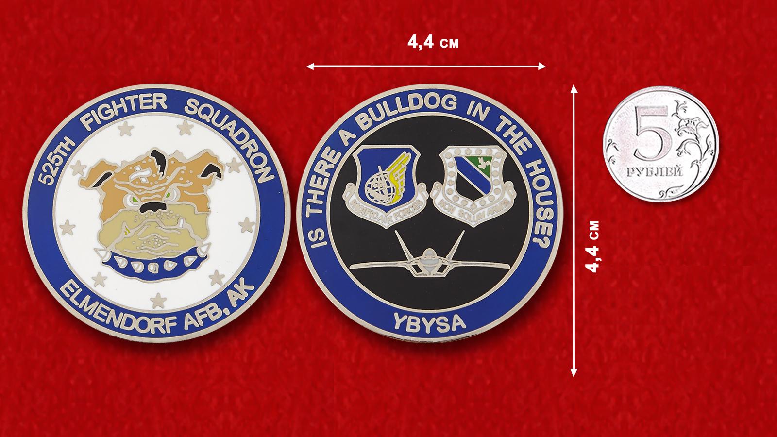 Челлендж коин 525-й истребительной эскдрильи Тихоокеанского командования ВВС США