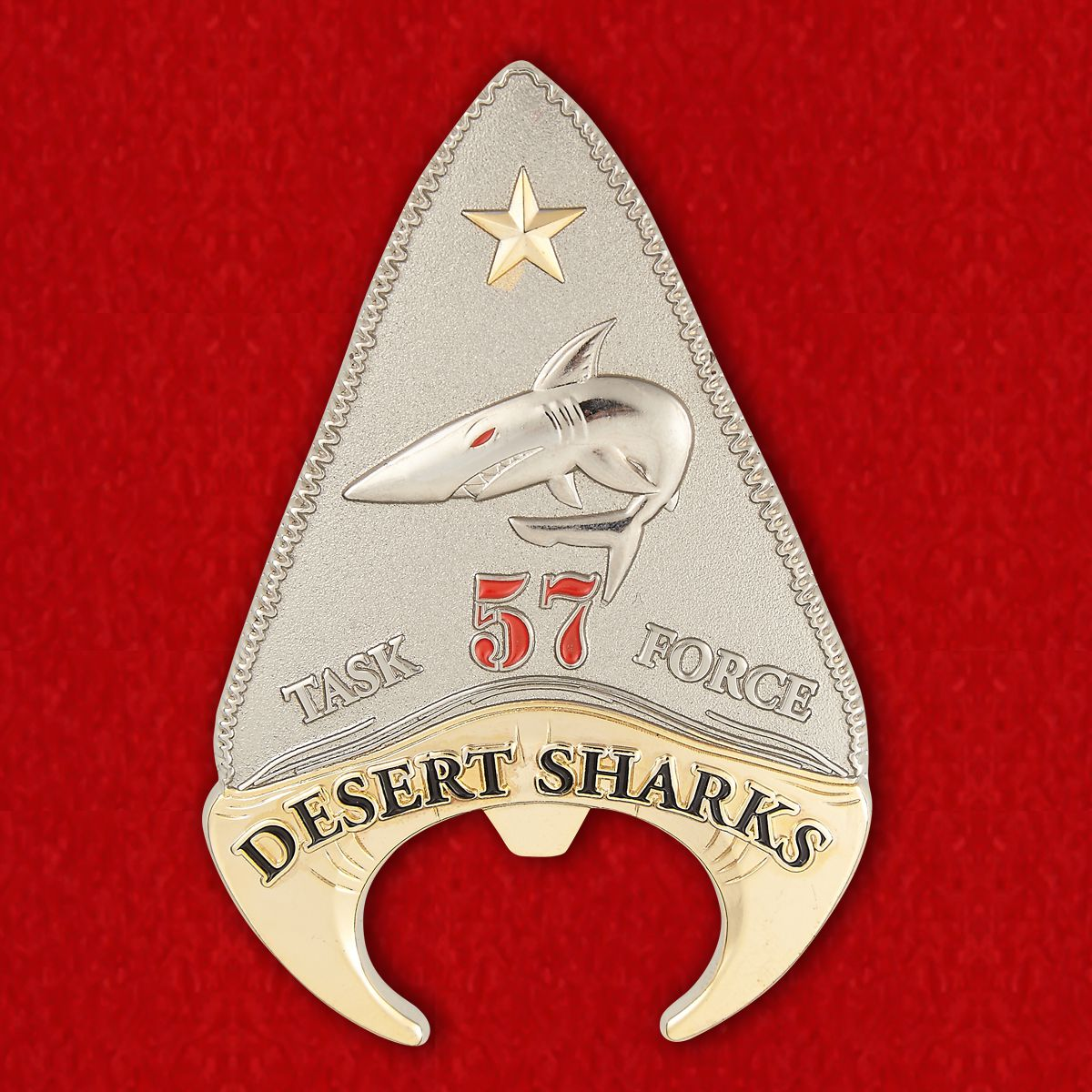 """Челлендж коин 57-й Тактической группы Морской авиации """"Пустынные акулы"""""""