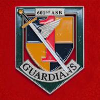 Челлендж коин 601-го батальона обеспечения 1-й бригады армейской авиации ВС США, Форт Райли