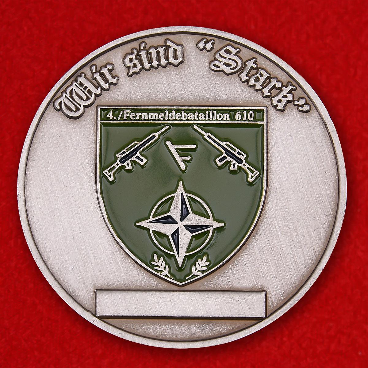 Челлендж коин 610-го батальона связи Бундесвера