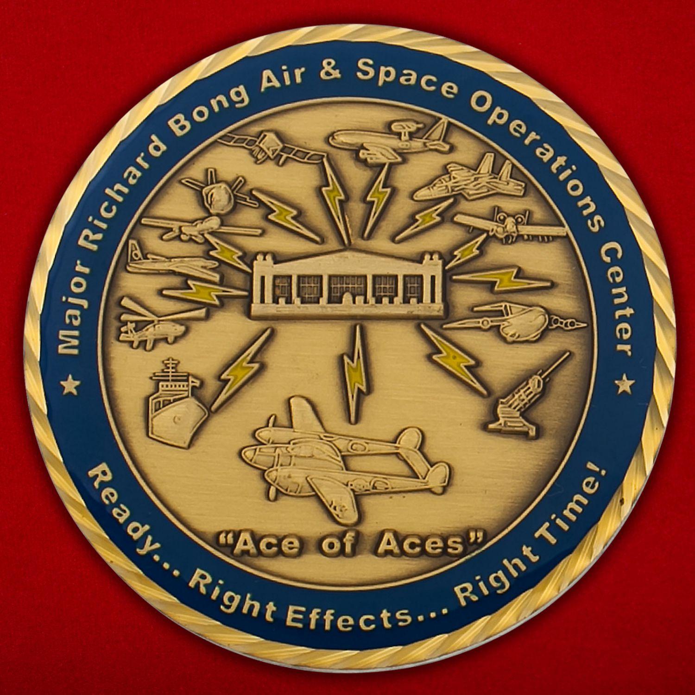 Челлендж коин 613-го Ценра Воздушно-космических операций авиабазы Хикэм, Перл-Харбор