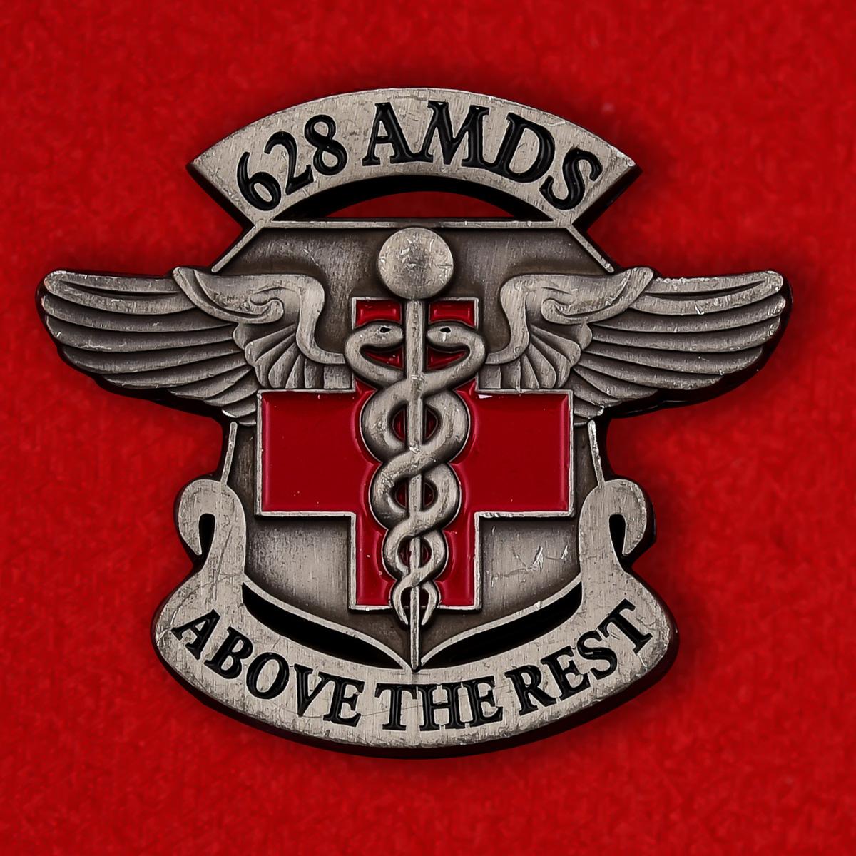 Челлендж коин 628-й медицинской группы базы Чарльстон в Южной Каролине