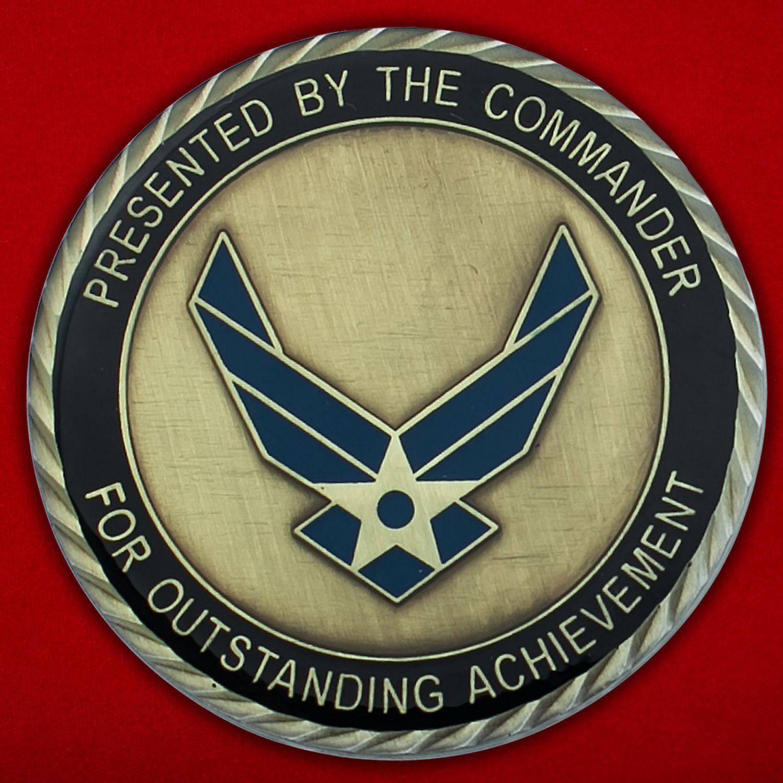 Челлендж коин 633-ей эскадрильи материально-тежнического обслуживания ВВС США