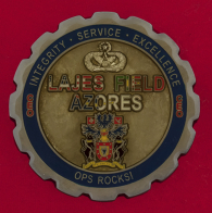 Челлендж коин 65-й инженерной эскадрильи ВВС США, авиабаза Лажеш, Португалия