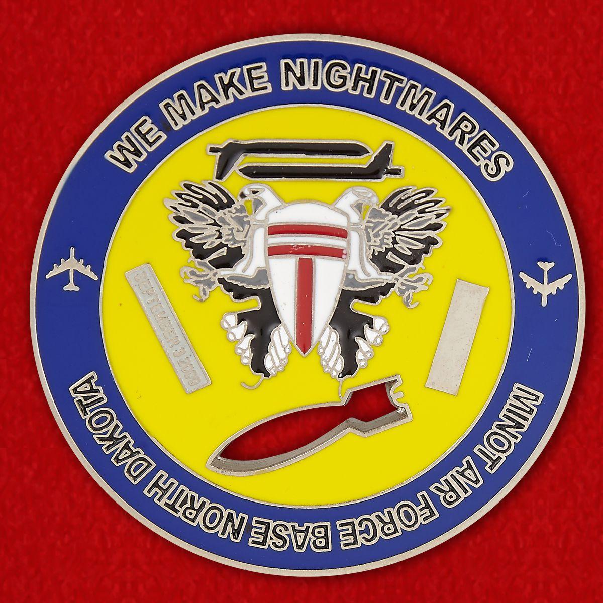 Челлендж коин 69-й эскадрильи стратегических бомбардировщиков ВВС США