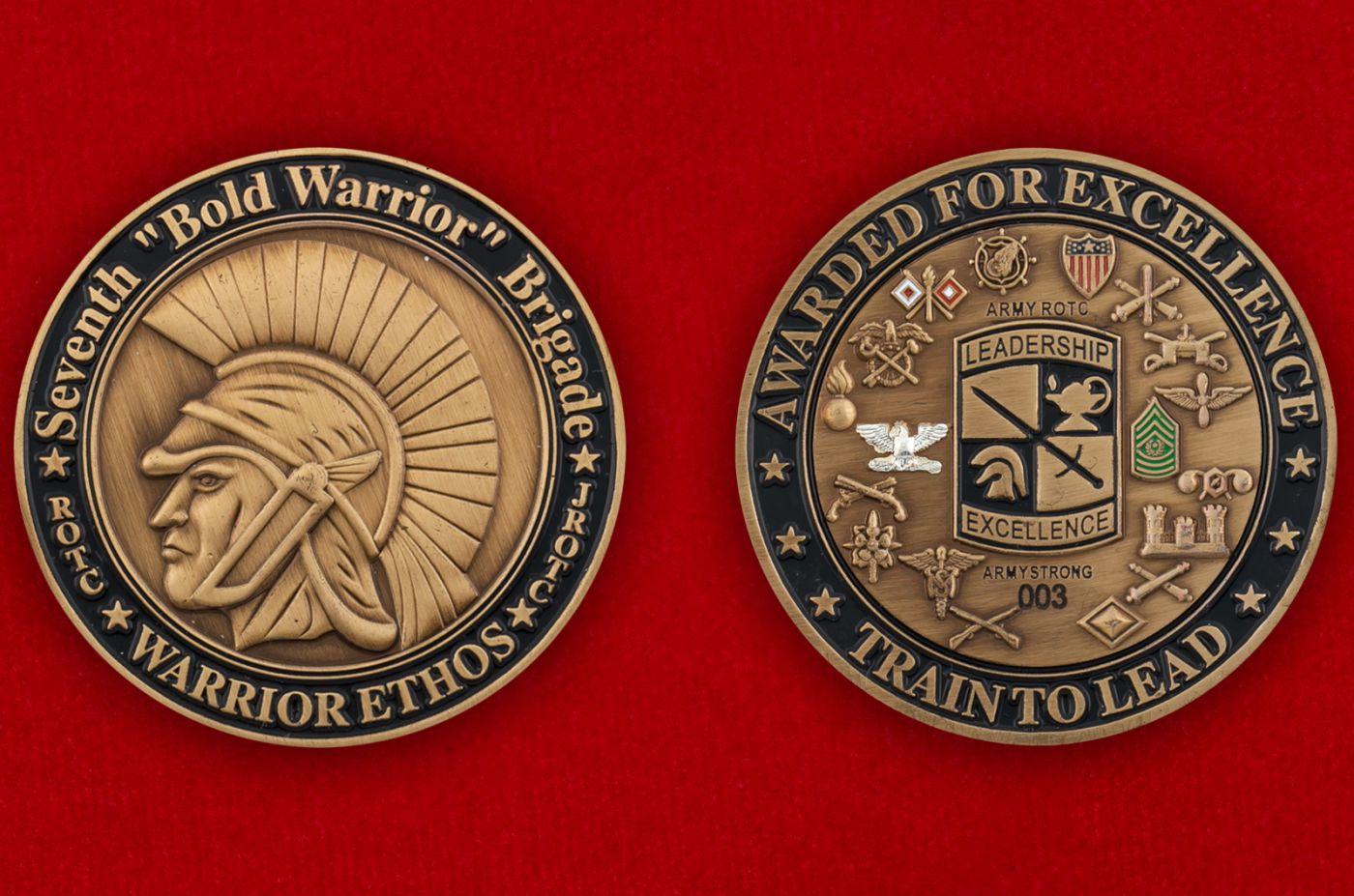 Челлендж коин 7-го Учебного корпуса под руководством офицеров запаса, Форт Нокс, Кентукки - аверс и реверс