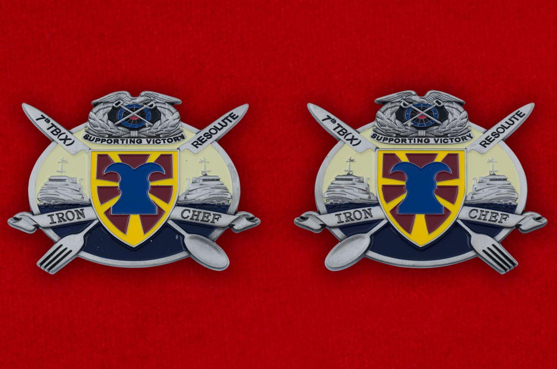Челлендж коин 7-й Экспедиционной Транспортной бригады Армии США - аверс и реверс