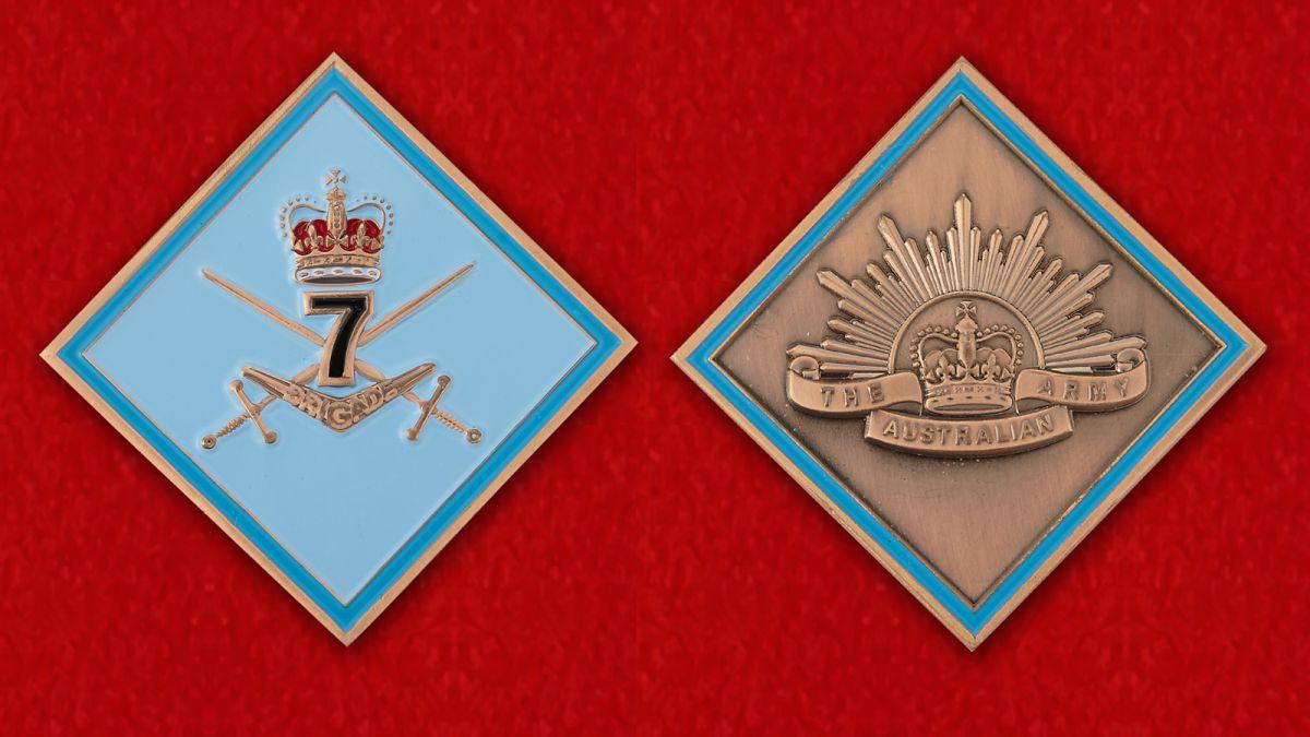 Челлендж коин 7-й Общевойсковой бригады Австралийской армии - аверс и реверс