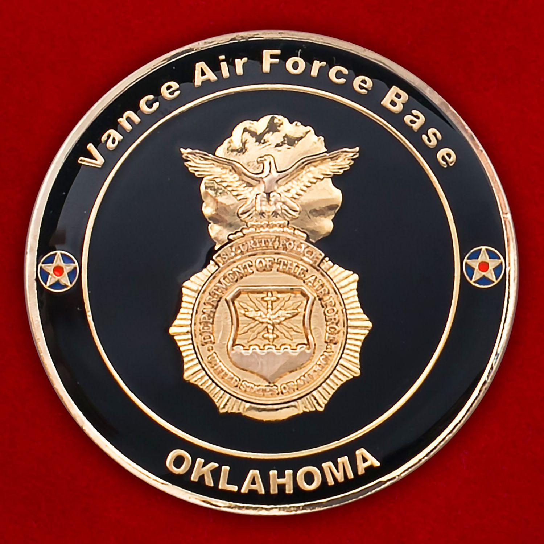 Челлендж коин 71-й эскадрильи сил безопасности авиабазы Вэнс, Оклахома