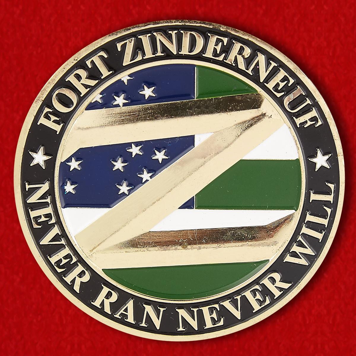 "Челлендж коин 73-го полицеского участка Бруклина ""Форт Зиндернеуф"" - аверс"
