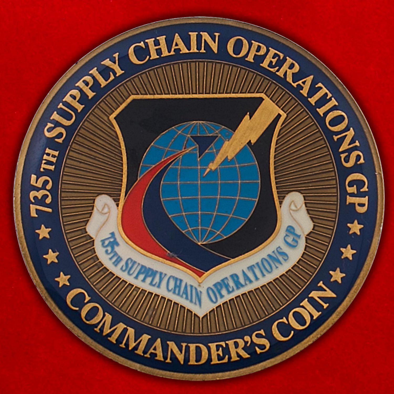 Челлендж коин 735-й группы Управления материально-технического обеспечения ВВС США