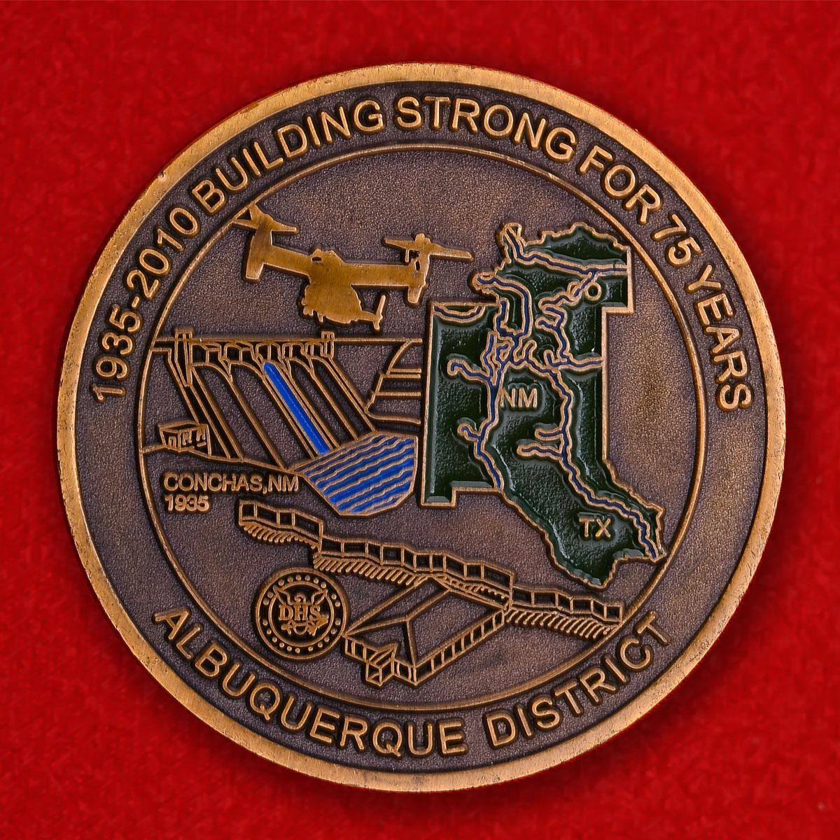 """Челлендж коин """"75 лет Инженерному корпусу армии США"""""""