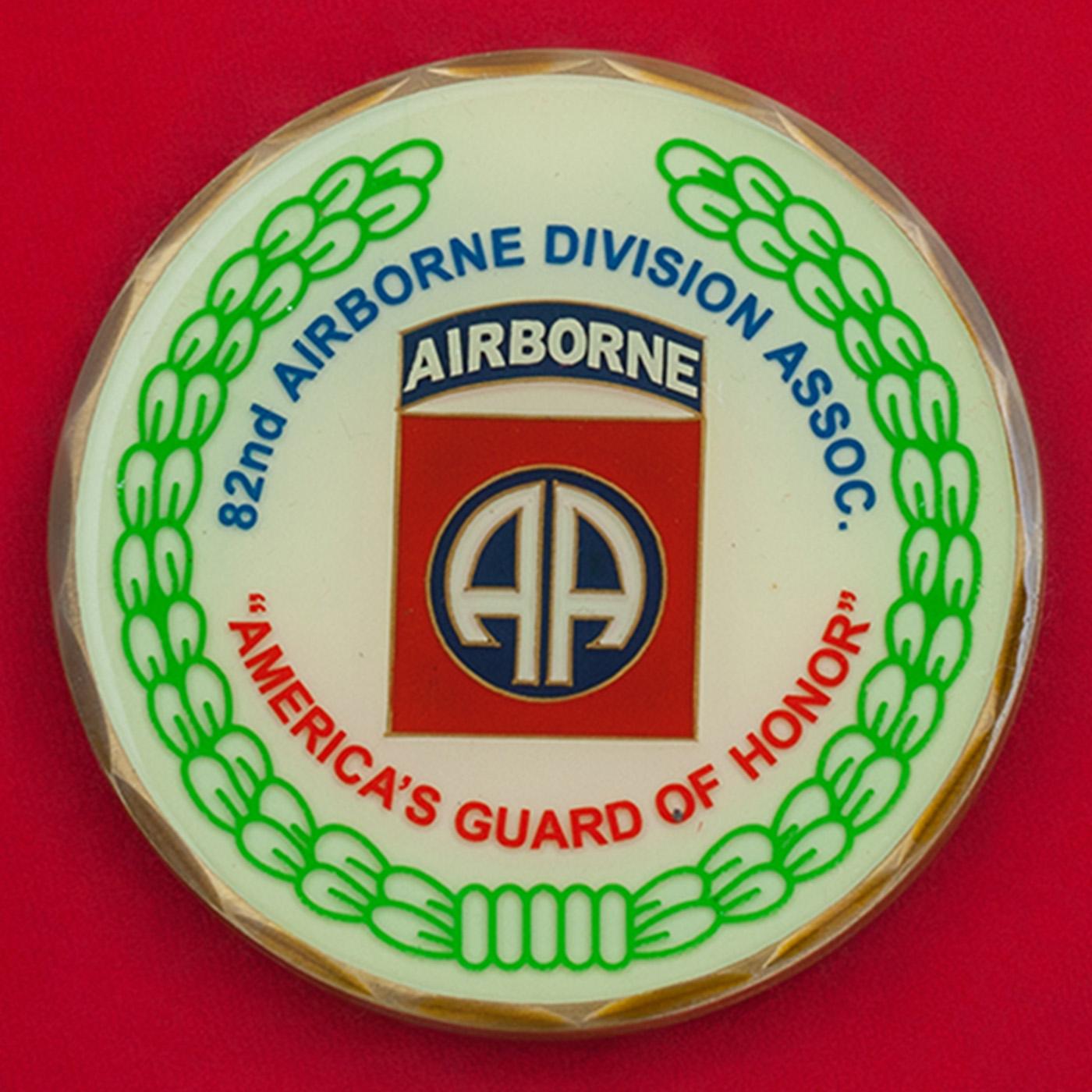 Челлендж коин 82-й воздушно-десантной дивизии Армии США