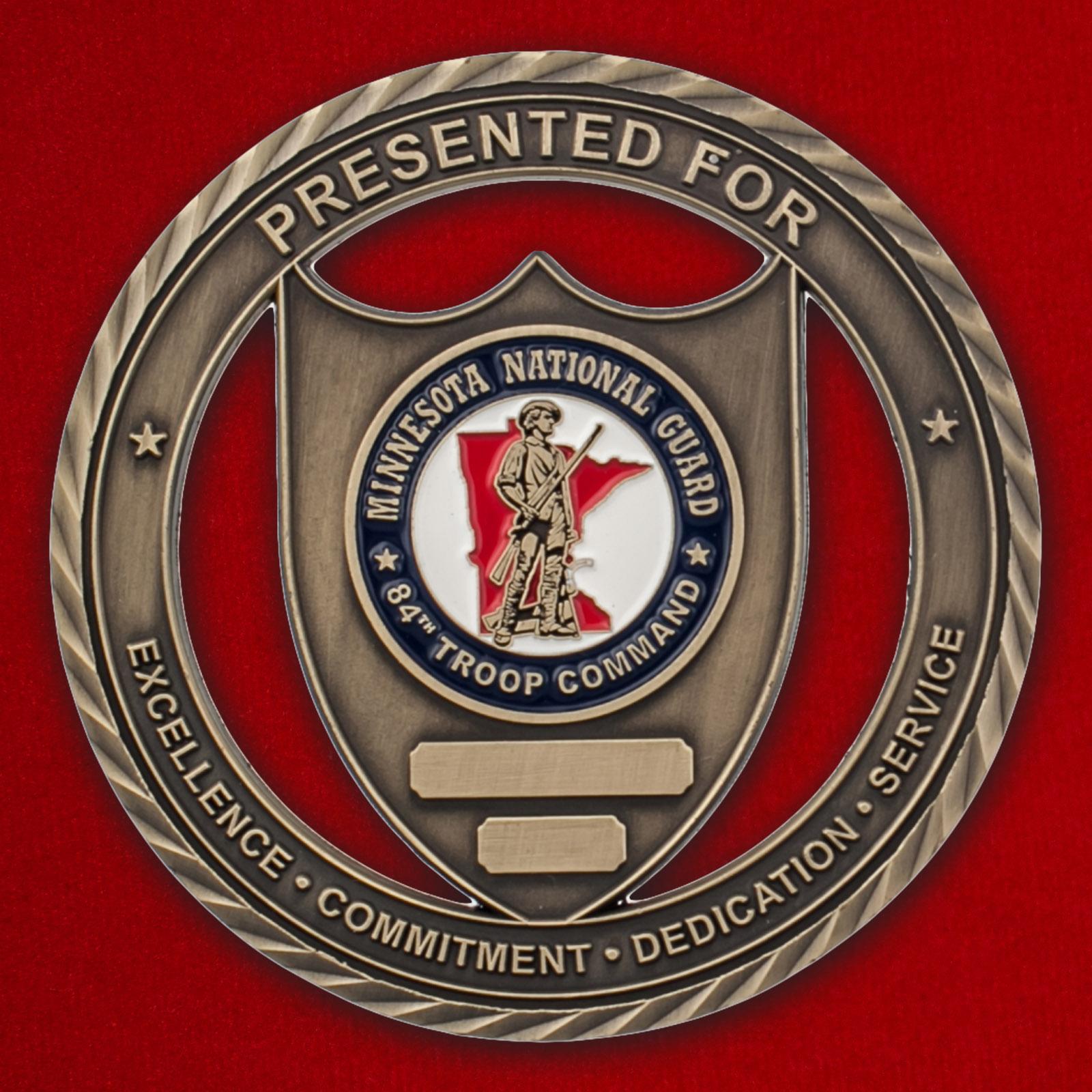 Челлендж коин 84-й воинской части резерва Национальной гвардии в Миннесоте