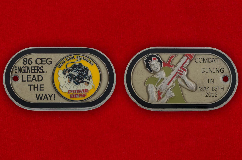 Челлендж коин 86-й Пожарно-спасательной эскадрильи - аверс и реверс