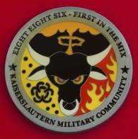 Челлендж коин 886-й инженерной эскадрильи ВВС США в Кайзерслаутерне, Германия