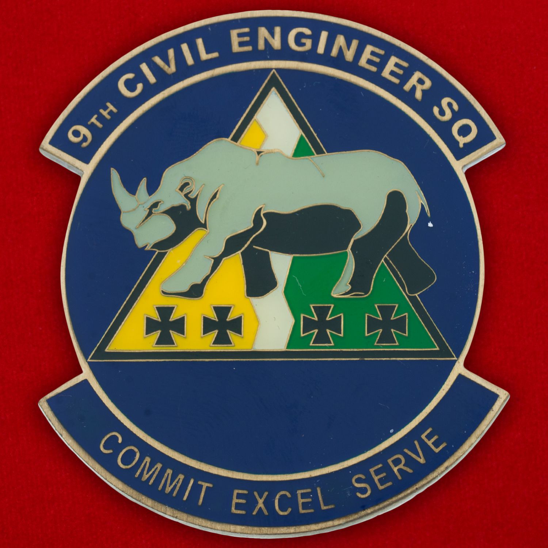 Челлендж коин 9-й инженерно-строительной эскадрильи авиабазы Бэйл