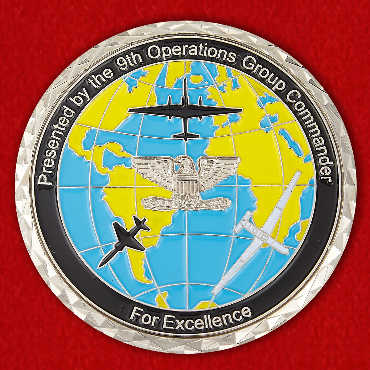 """Челлендж коин """"9-й Оперативной авиагруппе от командующего за отличную службу"""""""