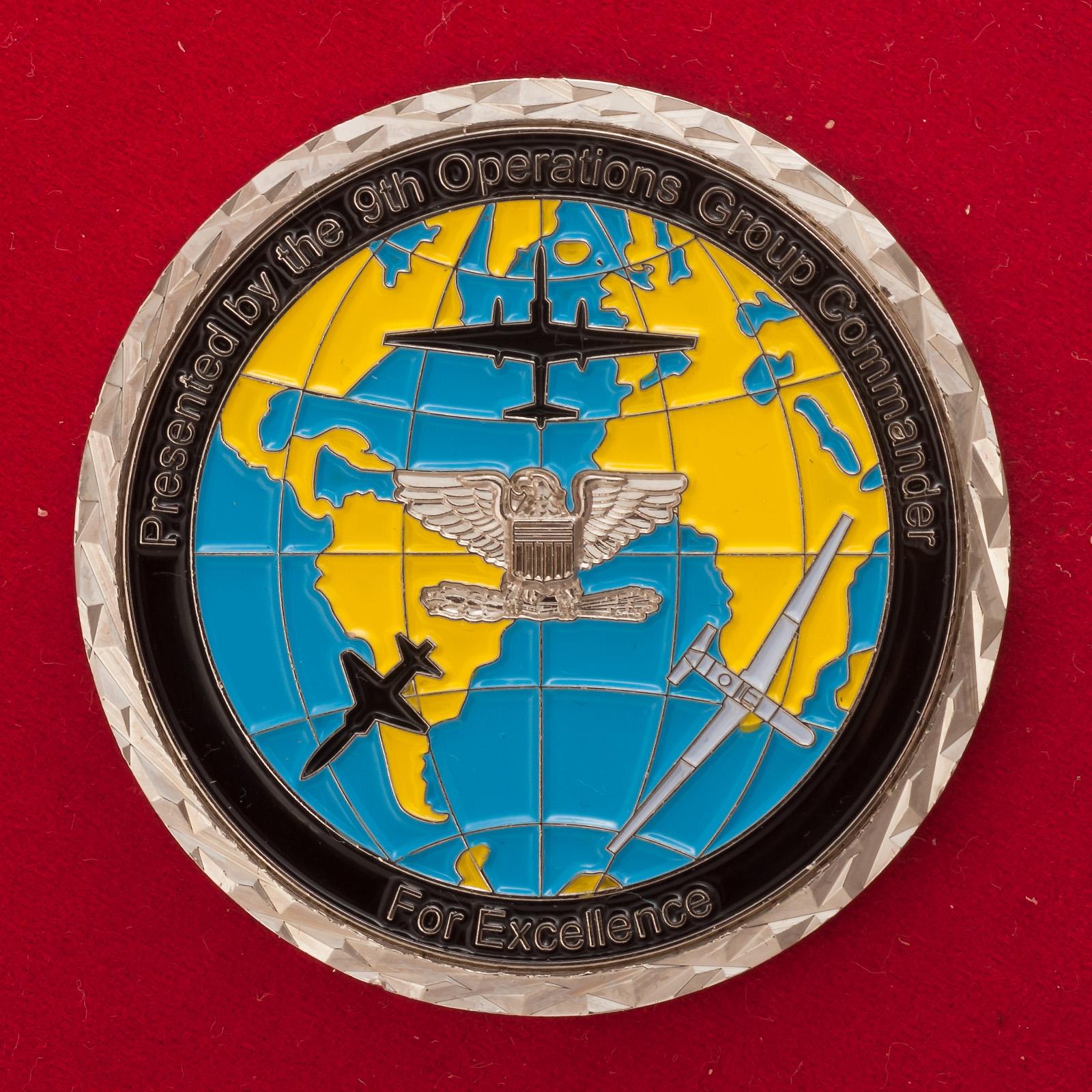 Челлендж коин 9-й оперативной группы ВВС США