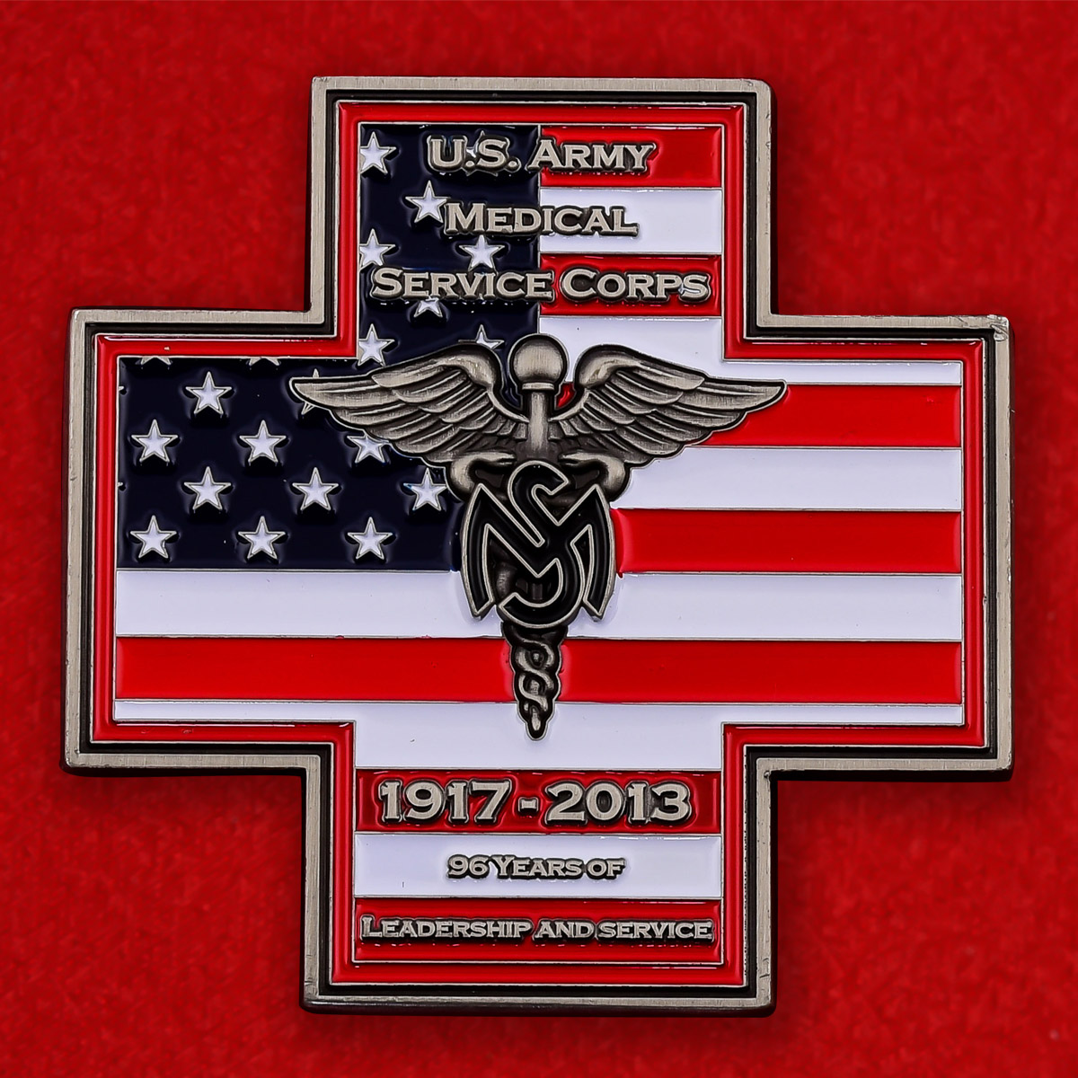 "Челлендж коин ""96 лет корпусу Военно-медицинской службы армии США"""