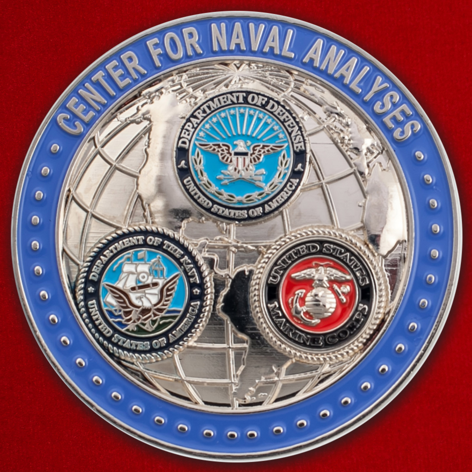 Челлендж коин Аналитического центра ВМС США