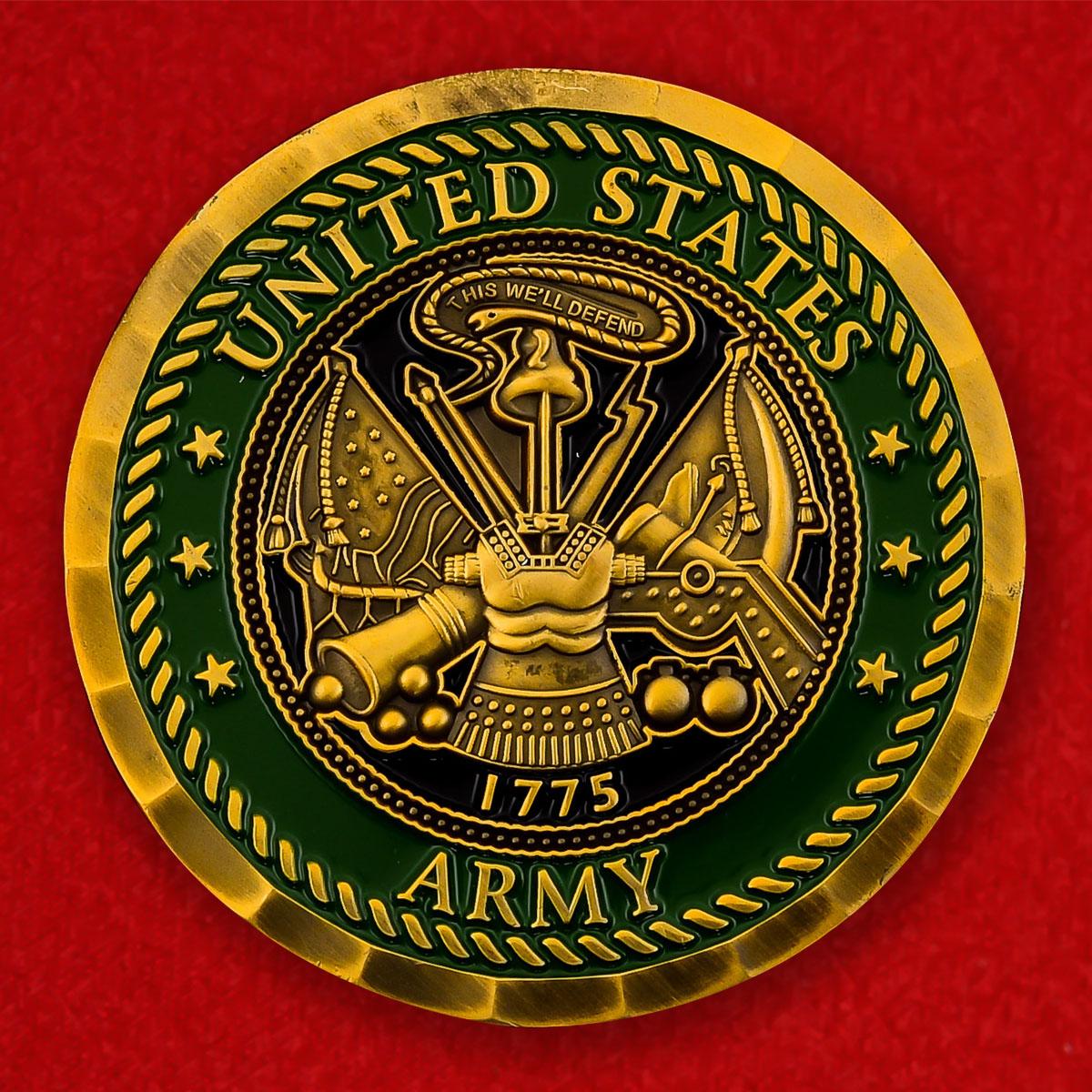 """Челлендж коин армии США """"За операцию Несокрушимая свобода"""""""