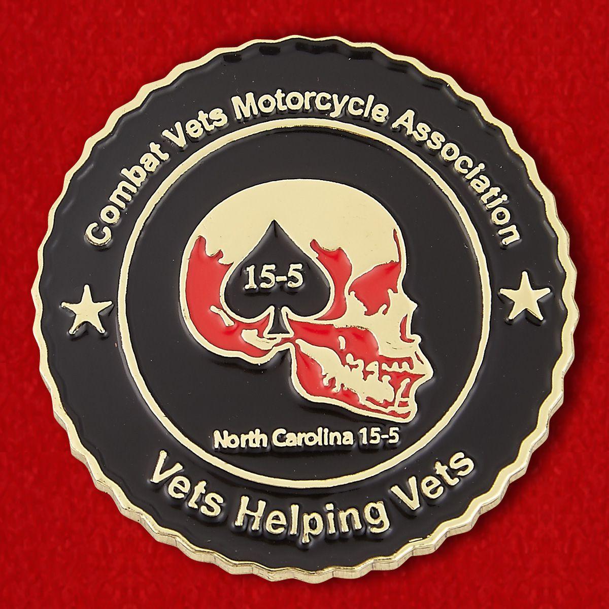 Челлендж коин Ассоциации мотоциклистов - ветеранов ВС США