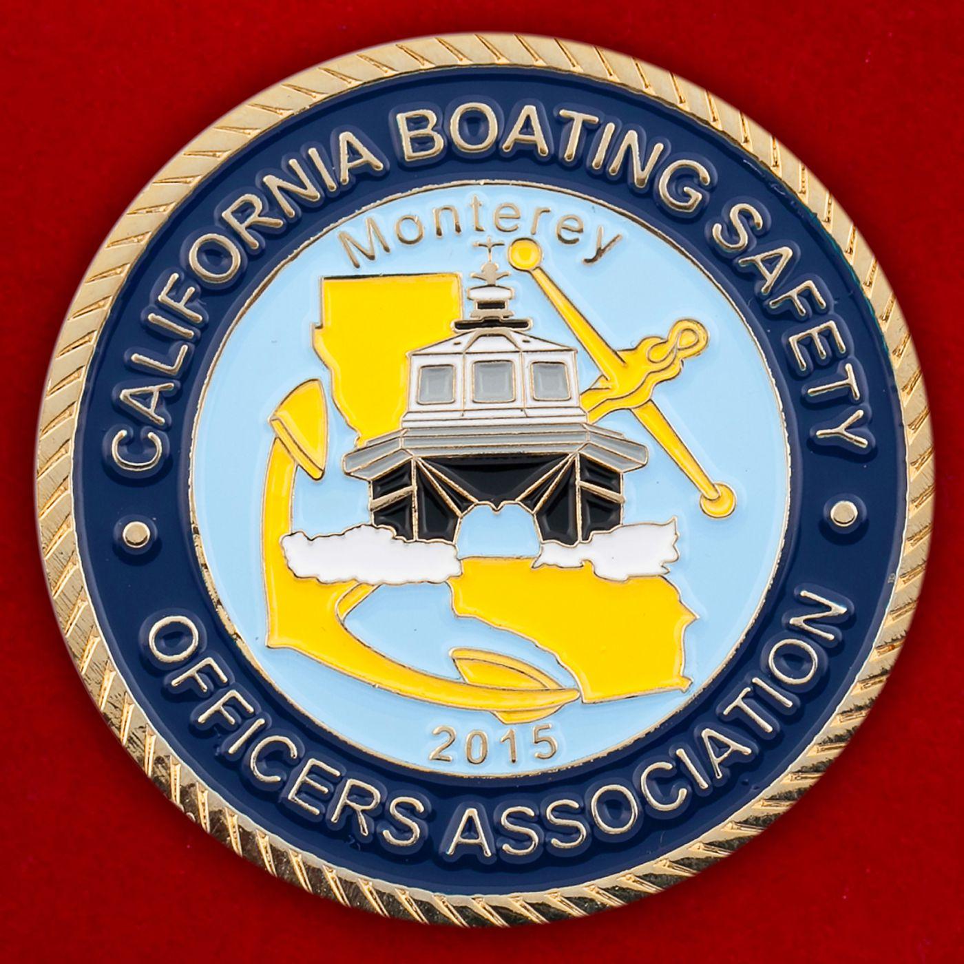 Челлендж коин Ассоциации офицеров Службы безопасности гребного спорта в Монтерее, Калифорния