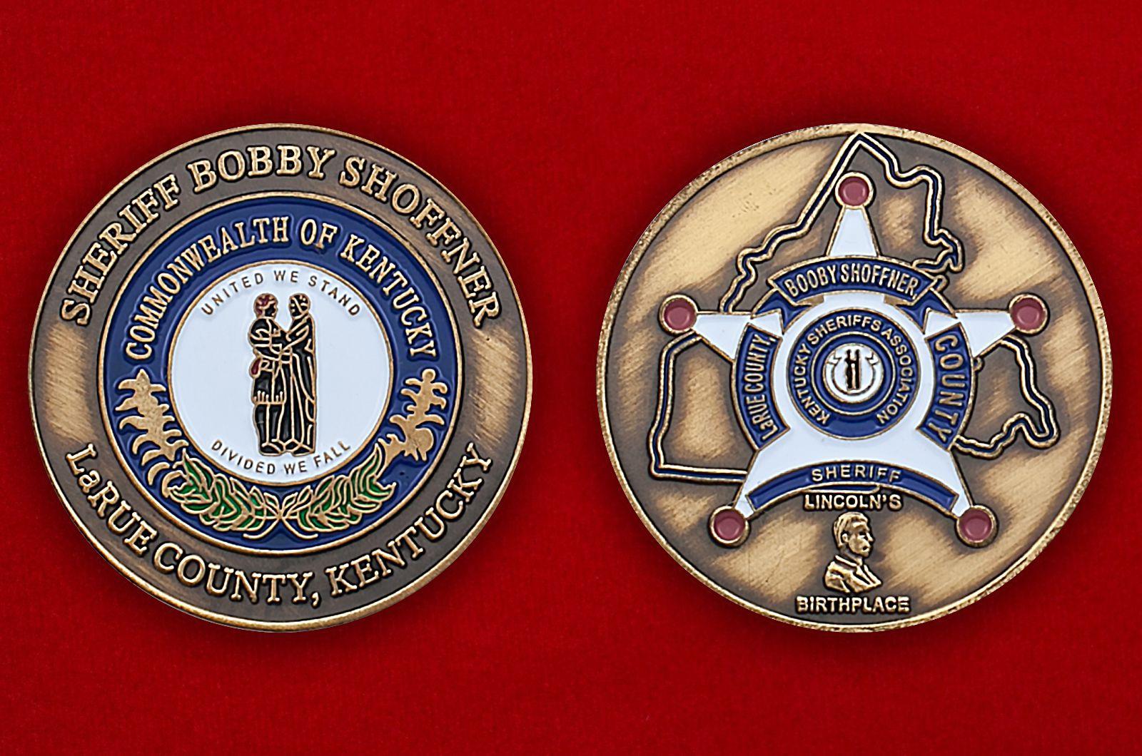 Челлендж коин Ассоциации шерифов штата Кентукки - аверс и реверс