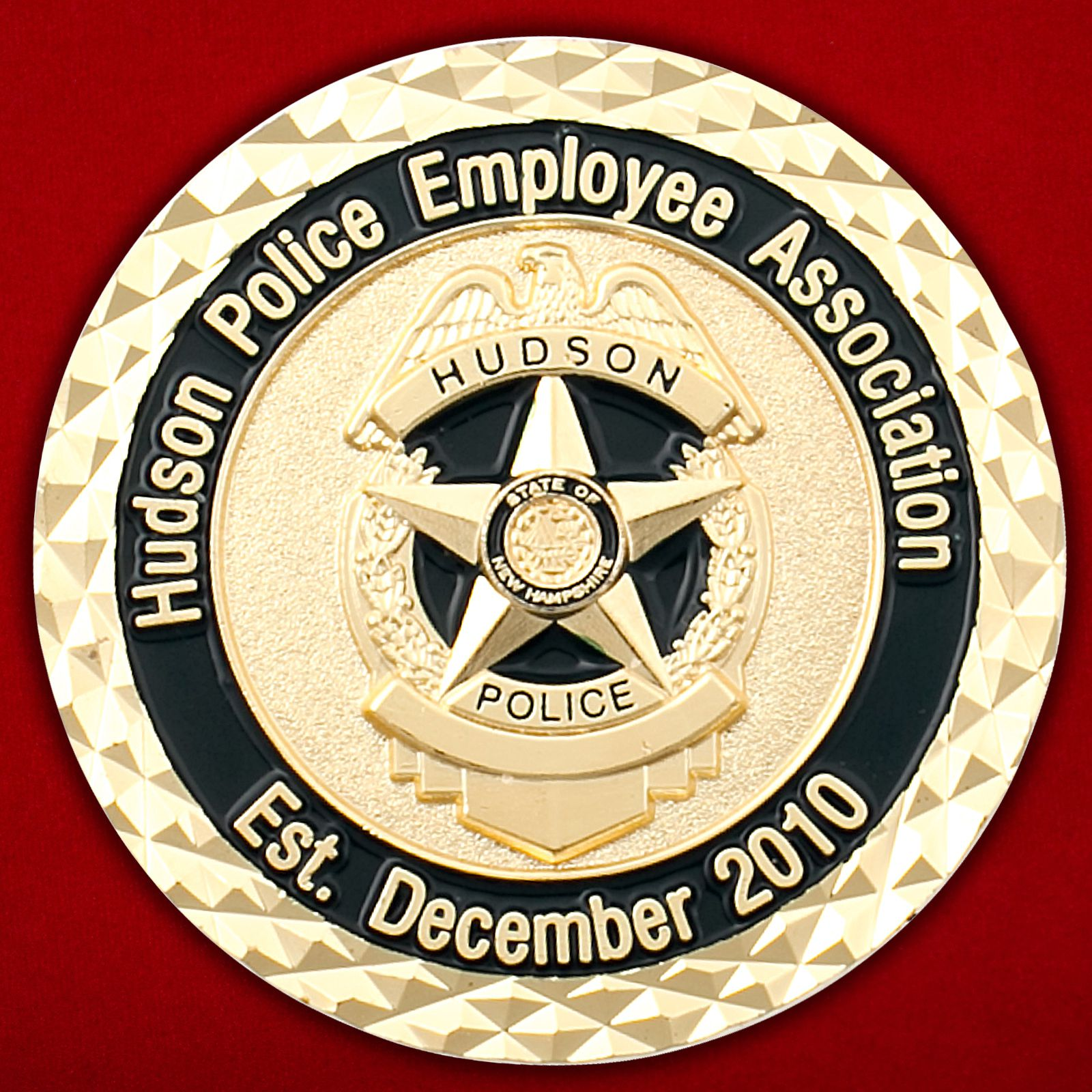 Челлендж коин Ассоциации сотрудников полиции Хадсона (Нью-Гемпшир)
