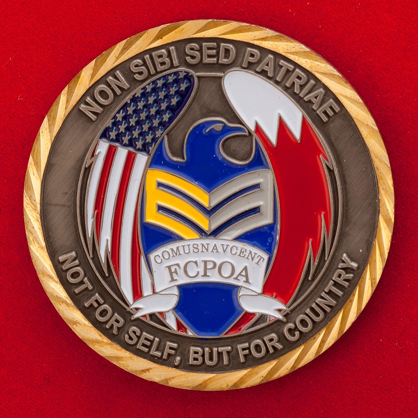 Челлендж коин Ассоциации старшин Объединенного центрального командования ВМС США