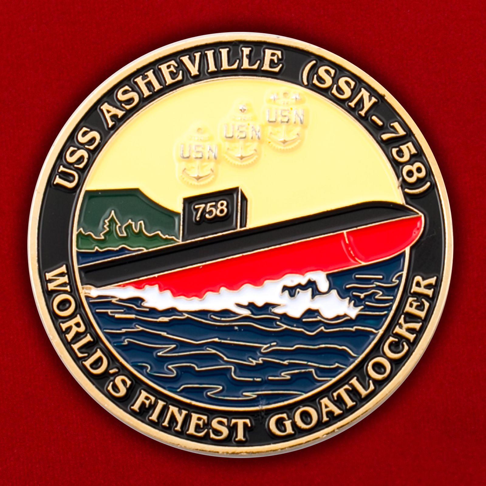 """Челлендж коин """"Атомная подводная лодка Эшвилл SSN-758"""""""