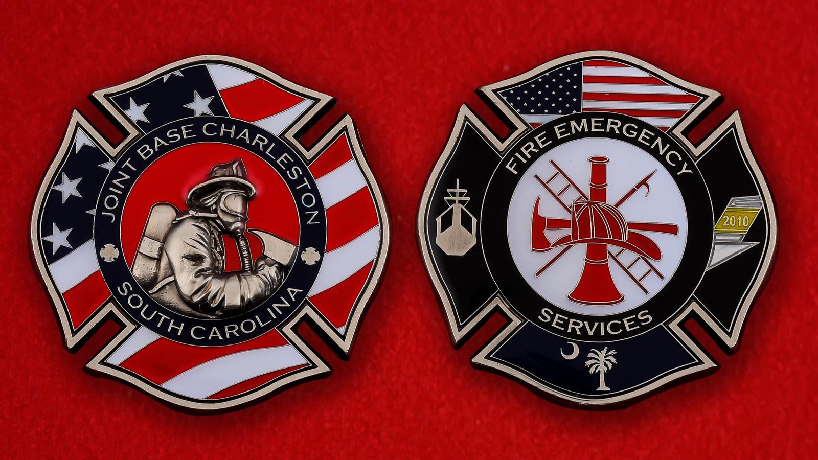 Челлендж коин Аварийной Пожарной службы Базы Чарльстон, Южная Каролина