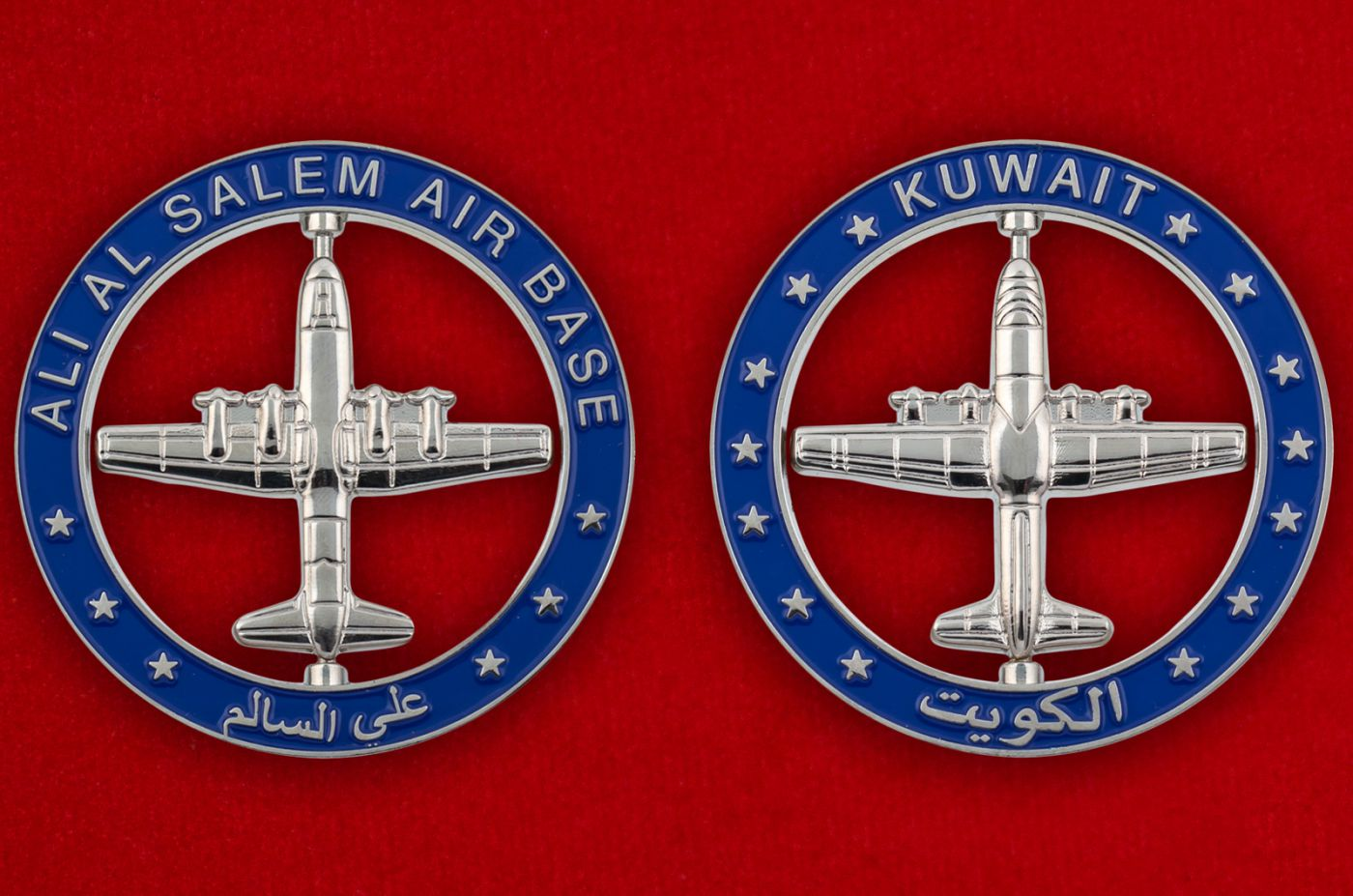Челлендж коин авиабазы Али аль-Салем ВВС Кувейта - аверс и реверс