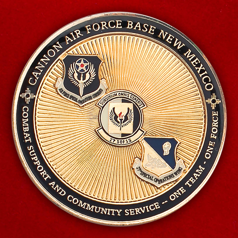Челлендж коин авиабазы Кэннон ВВС США