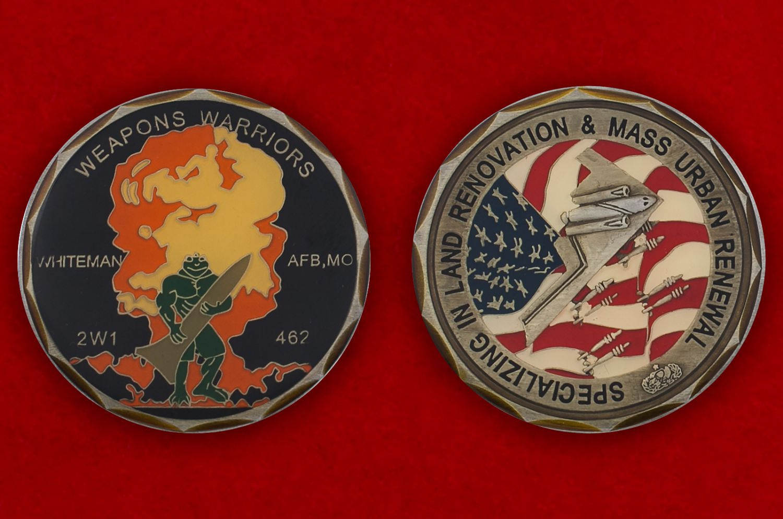 Челлендж коин авиабазы Витерман ВВС США - аверс и реверс