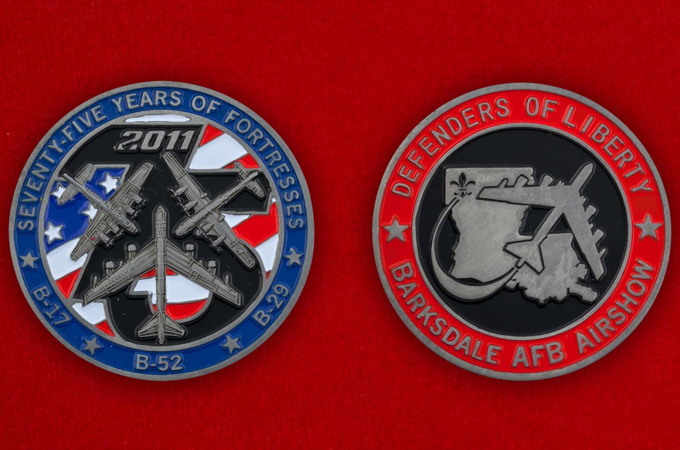 Челлендж коин авиашоу на базе Барксдейл ВВС США - аверс и реверс