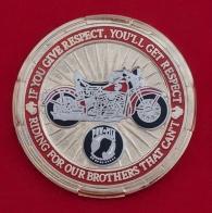 Челлендж коин байкерского клуба Корпуса морской пехоты США