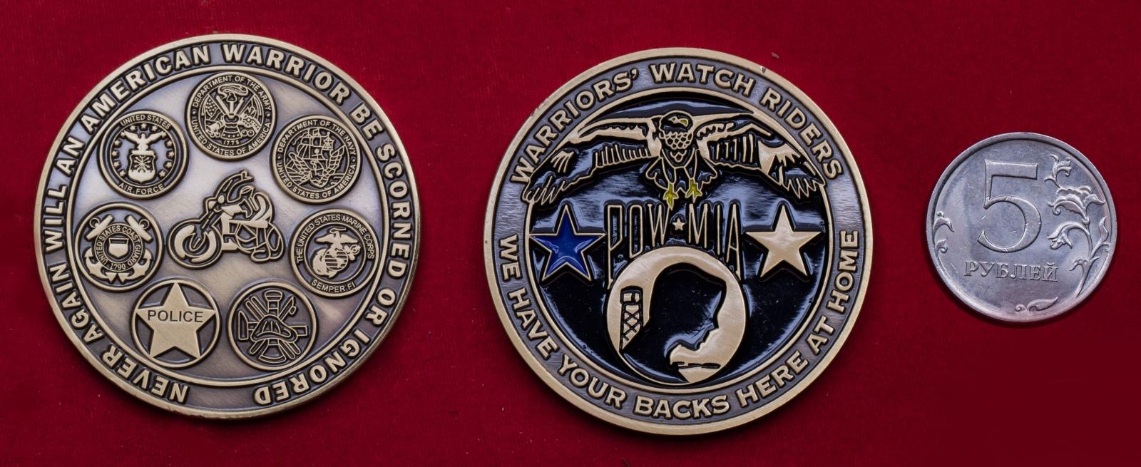 Челлендж коин байкерского клуба ветеранов армии США Warrior