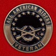 Челлендж коин байкерского союза ветеранов-военнослужащих All American Riders