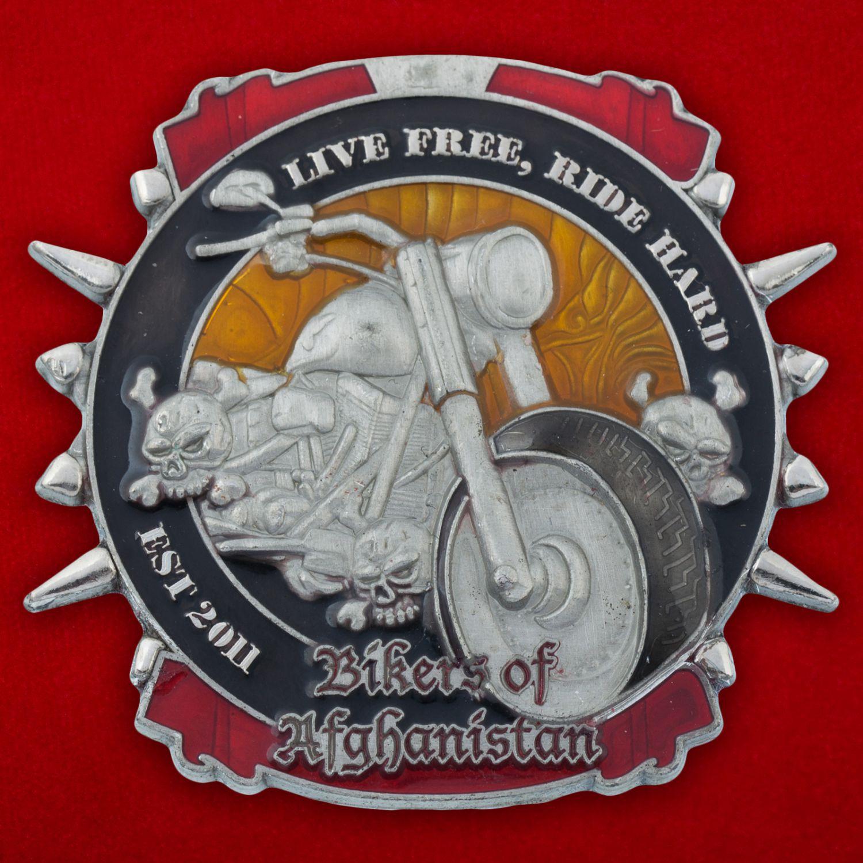"""Челлендж коин """"Байкеры базы ВС США в Салерно в поддержку раненых в Афганистане"""""""