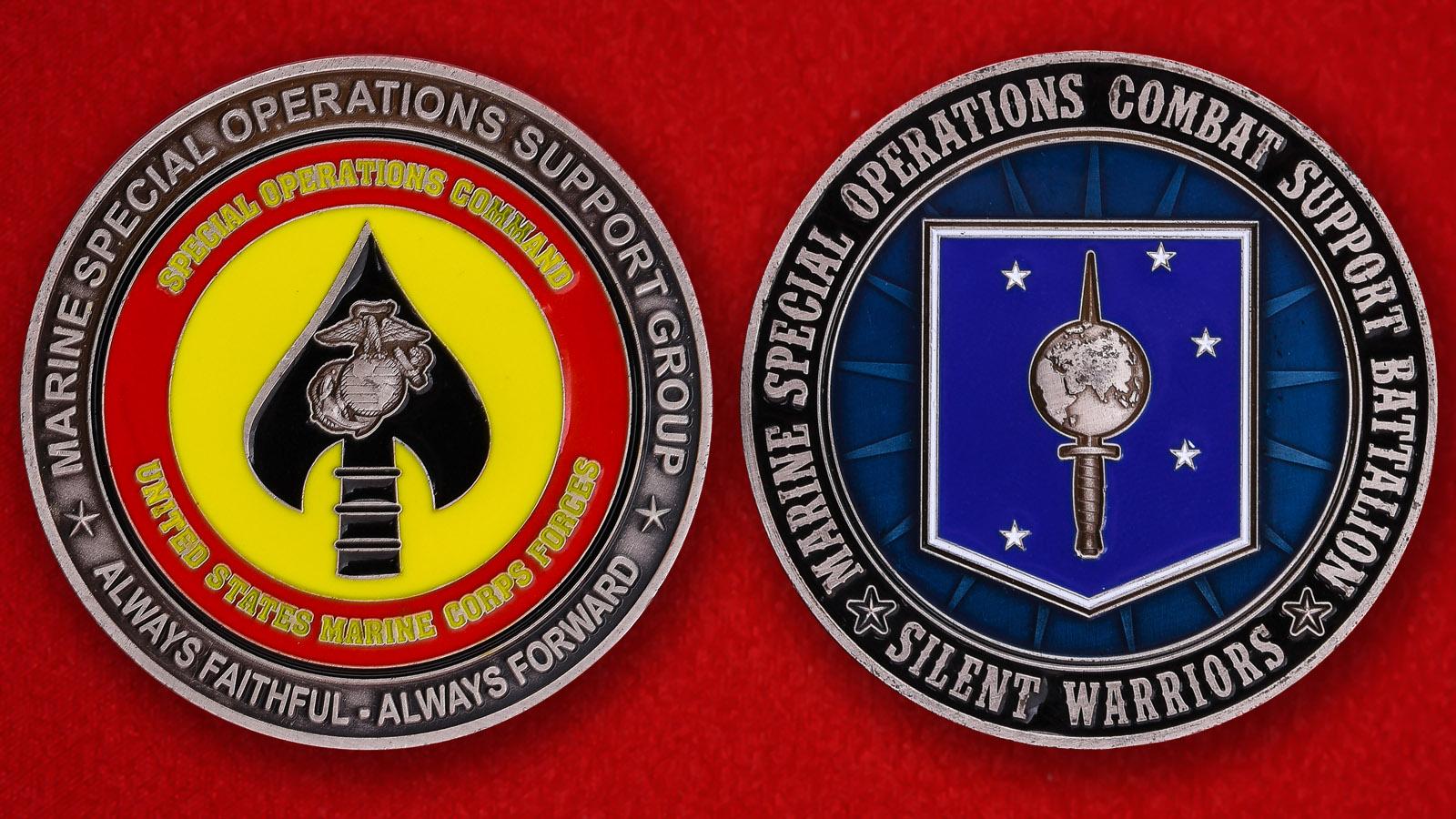 Челлендж коин батальона Спецназа Корпуса Морской пехоты Командования Сил Специальных Операций