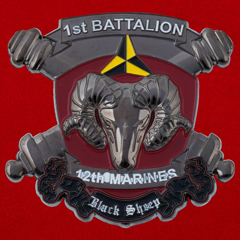 "Челлендж коин батареи ""Альфа"" 1-го батальона 12-го артиллерийского дивизиона Корпуса Морской Пехоты США"