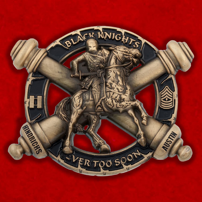 "Челлендж коин батареи ""Браво"" 5-го батальона 3-го полка Полевой артиллерии Армии США"