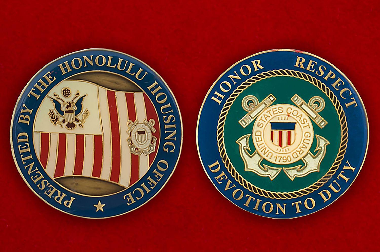 Челлендж коин Береговой охраны Гонулулу, Гавайи - аверс и реверс